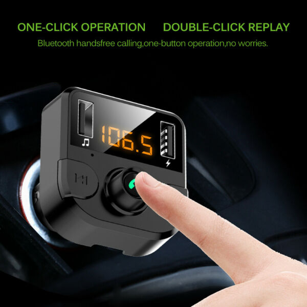 Lichfield,United KingdomWireless Bluetooth FM Transmitter Car Dual  Charger MP3 Radio For IOS Android