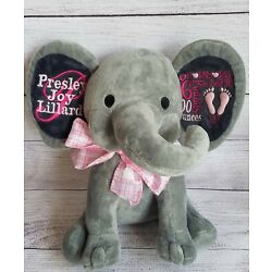 Kyпить Embroidery Personalized Birth Announcement Elephant, Baby Gift, New Baby на еВаy.соm
