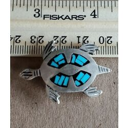Kyпить Vintage Sterling Silver Turquoise Turtle Pin на еВаy.соm