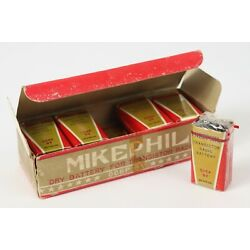 Kyпить Vintage 1960's Mikephil Transistor Radio Batteries 9 Volt NOS New Old Stock x10 на еВаy.соm