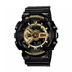 Kyпить NEW G-Shock GA110GB-1A Men's Watch Black Gold Dial Resin Chronograph на еВаy.соm