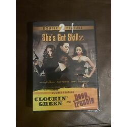 Shes Got Skillz Double Feature- Clockin' Green and Deep Trouble (DVD, 2013) New