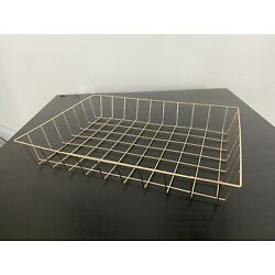gold metal wire storage container
