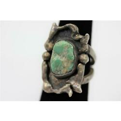 Kyпить ANTIQUE OLD DEAD PAWN NAVAJO STERLING SILVER TURQUOISE SIZE 5.75-6 HANDMADE RING на еВаy.соm