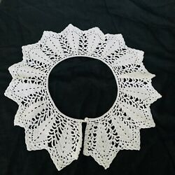 Kyпить Antiques Vintage Hand Knitted Crochet  Collar White With Button Closure на еВаy.соm