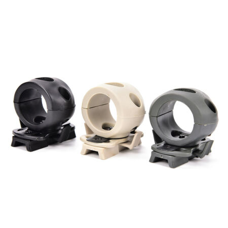 img-Tactical Helmet Flashlight Mount Clip Military Airsoft Light Clamp Adaptor .y1