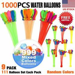 1000pcs Water Bunch O Balloons Style Instant rapid Fill Self-Sealing 9 pack Tied
