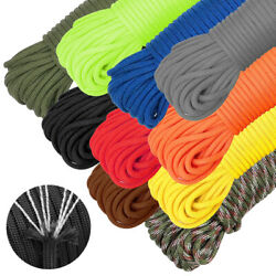 550LB Paracord Mil-Spec Type III Parachute Cord 7 Nylon Strand 50FT Camping Rope