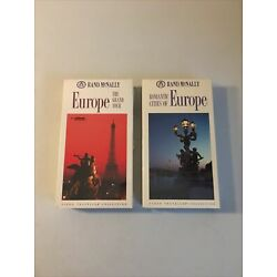 Rand McNally - Europe Grand Tour + Romantic Cities of Europe (VHS Tapes, New)