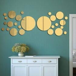 3D Acrylic Mirror Removable Wall Sticker Mural Decal Home Room Decor Art