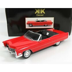 1967 CADILLAC DEVILLE CONVERTIBLE RED 1:18 BY KK SCALE MODELS 180312R