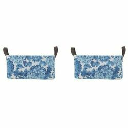 Pioneer Woman Medium Multicolored Floral Canvas Basket, Set of 2 *FREE SHIPPING*