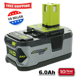 For RYOBI P108 18V One+ Plus High Capacity Battery 18 Volt Lithium-Ion New 6.0Ah