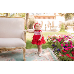 Dolce Petit Girls 2 Piece Red Baby Dress Set 24 Months