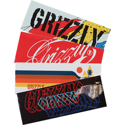 GRIZZLY XL STAMP DECAL 1pc ast.colors