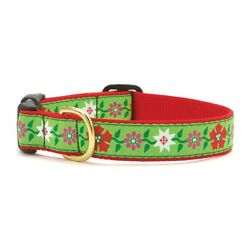 Up Country - Dog Puppy Design Collar -Made In USA - Poinsettia - XS S M L XL XXL