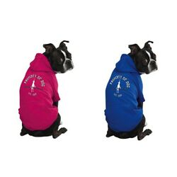 Dog Puppy Sweater Hoodie - Dog Is Good - Solid - Pink or Blue - XS, S, S/M