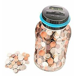 Digital Coin Bank Piggy Bank For Adults Coin Counter With LCD Money Saving Jar