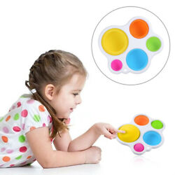 1 Baby Simple Dimple Sensory Fidget Toy Silicone Flipping Board Kids Adult Gift