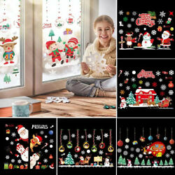 Merry Christmas Window Stickers Xmas Decoration Home Wall Decor New Year 2022