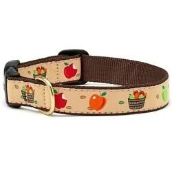 Up Country - Dog Puppy Collar - Made in USA - Apple Of My Eye - XS S M L XL XXL