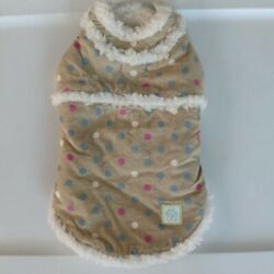 Small Dog Coat - Sherpa Lined Shearling Coat for Small Dog