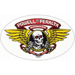 Powell Winged Rip Sticker (2pack) Red Yellow 7''