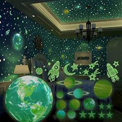 SnailGarden 509Pcs Glow in The Dark Stars and Planets, Bright Solar System Wall