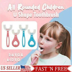 Baby Toothbrush U-shaped Silicone Brush Head Cleaning Teeth for Kids 2-12 Year J
