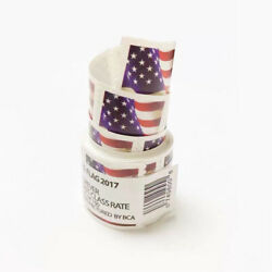 2 Coil 2017 American Flag Postage 100 USPS Forever US ONLY