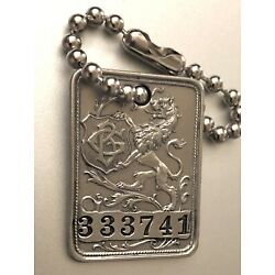 Vintage Charge Coin Plate Tag: Gimbel Brothers Iconic Dept Store; NY / Phily