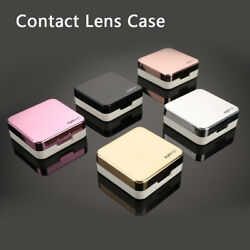 Fashion Contact Lens Case Mirror Soaking Container Business Travel Holder Ki H0