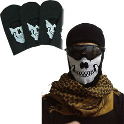 Black Balaclava Ghost Skull Full Face Mask for Party Halloween Bike Cycling Hood