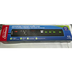 Sunbeam Advance 7 Outlet Power Strip With Surge Protector ''FAST SHIPPING''