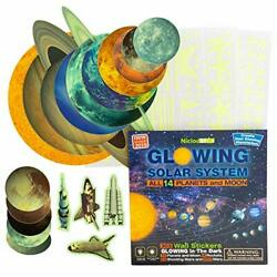 Glow in the Dark Stars and Planets for Ceiling 303 Solar System Wall Stickers