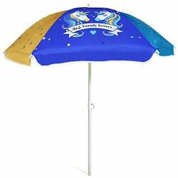 AMMSUN 47 Inch Seaside Beach Umbrella for Sand and Water Table - Kids Durable...