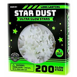 Ultra Brighter Glow in the Dark Stars; Special Deal 200 Count w/ Bonus Moon