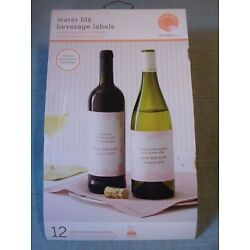 MARTHA STEWART Water Lily Beverage Bottle Labels 12 Print it Yourself Labels NEW