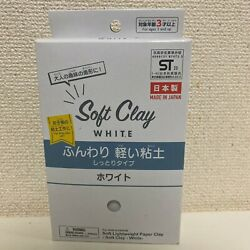 Daiso Soft Clay New 1 pack White  Paper Clay For Craft Work From Japan F/S