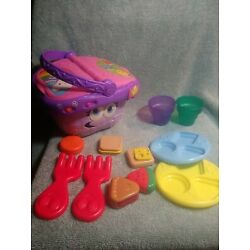 Leap Frog Shapes and Sharing Picnic Basket with Accessories Talking Music Toy
