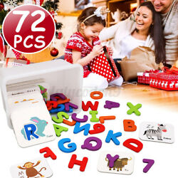 Wood Letter Number Sorting Animal Card Montessori Game Toys For Toddlers  ^