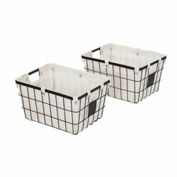 Better Homes & Gardens Small Wire Storage Basket with Chalkboard, 2-Piece