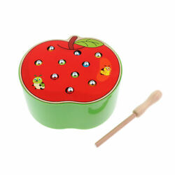 Kids Catch Insect Game Montessori Wooden Toys Kids Early Development Apple