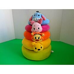 WINNIE THE POOH AND FRIENDS SOFT PLUSH STACKING RINGS TOY BY HALLMARK