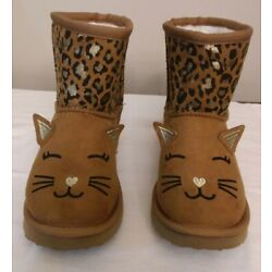 CAPELLI NEW YORK CHESTNUT/LEOPARD KITTY BOOTS SIZE 3 BRAND NEW! FREE SHIPPING!