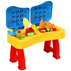 Topbuy 2-in-1 Kids Sand and Water Table Beach Play Activity Table with 31 Pcs