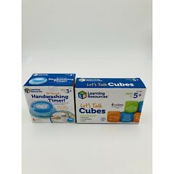 Set of 2! - Learning Resources Lets talk Cubes (5+) and Handwashing timer (3+)