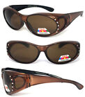 Womens Rhinestones Fashion Sunglasses - Brown #DG94 F