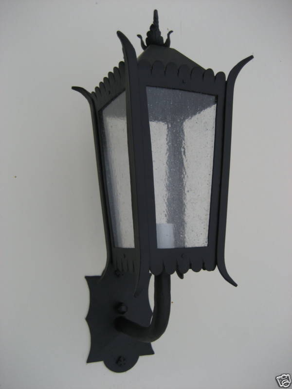 Spanish Colonial Wrought Iron Exterior Light Or Lantern Ebay