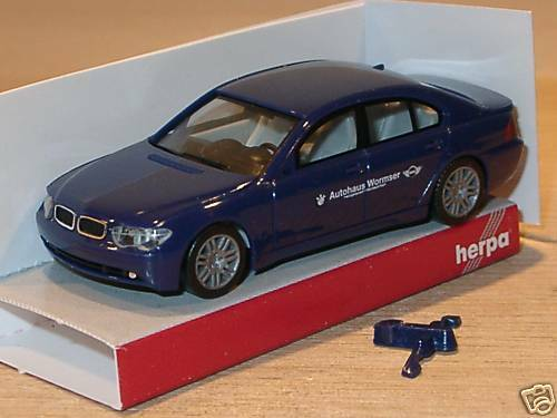 herpa bmw 7er autohaus wormser vom tag tuer ebay. Black Bedroom Furniture Sets. Home Design Ideas